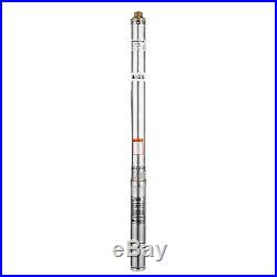 0.55KW Submersible Deep Well Pump 65.6ft Cable with Control Box 22 Impellers