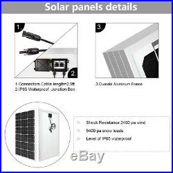 100W Solar Panel + 12V Submersible Deep Well Water Pump +Controller+Battery