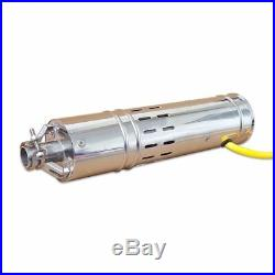 12VDC 3 Inch 132W 3000LPH 10m Head Stainless Submersible Deep Well Pump