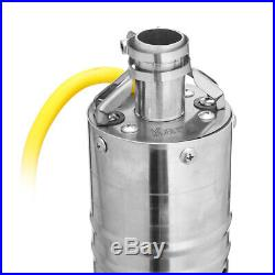 12V/18V DC 2m3/H Solar Powered Water Pump Submersible Bore Hole Deep Well for Fa