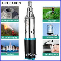 12V/24V DC 3m³/h 180W Solar Deep Well Water Pump Stainless Submersible Pump