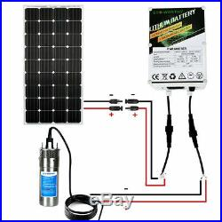 12V Deep Well Submersible Water Pump Battery SystemSolar Panel Kits&Solar Pump