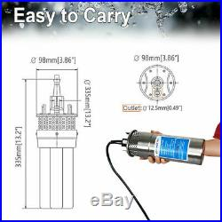 12V Solar Submersible Deep Water Well Pump for Irrigation Stainless Steel 70M 4
