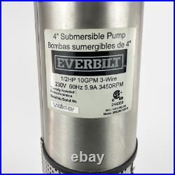 1/2 HP Submersible 2-Wire Motor 10 GPM Deep Well Potable Water Pump