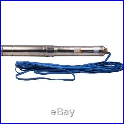 1.5HP 1.1KW Borehole Deep Well Water Submersible Pump 50Hz 220-240V 12-81M