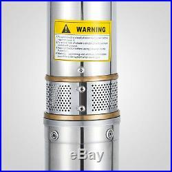 1.5KW Submersible Deep Well Pump 230 V/ 50 Hz Watering Water SCIENTIFIC PROCESS