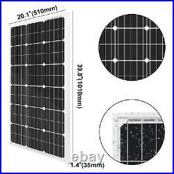 200W Mono Solar Panel Kit + 24V Submersible Deep Well Water Pump for Farm Garden
