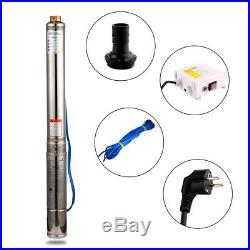 220-240v Submersible Pump, 4 Deep Well, 3hp, Max-315ft 52GPM, 15 Impellers UK