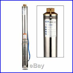 220-240v Submersible Pumps, 4 Deep Well, 1hp, Max-151ft 52GPM, 7 Impellers UK