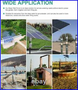 24V 3'' Stainless Stee Submersible Solar Water Deep Well Pump + 200W Solar Panel