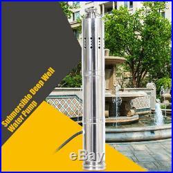 24V Solar Water Pump 40m Deep Well Solar Submersible Pump Steel Machine DHL DEU