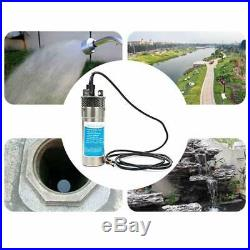 24V Stainless Steel Solar Submersible Pump 3.2GPM Deep Well Water DC Pump New