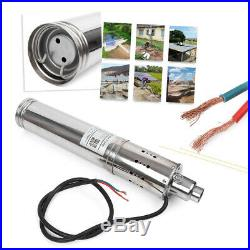 24V Submersible Brushless Solar Water Pump 3m³/H 120M Head max Deep Well Pump