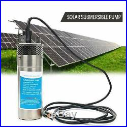 24V Submersible Deep Solar Well Alternative Solar DC Water Pump Powerful 30m UK