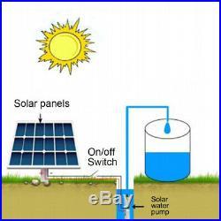 24/48V 60M Lift Solar Powered Water Pump Deep Well Submersible Farm&Ranch