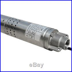 2 (50mm) Submersible Bore 240V 1/2HP Deep Well Water Pump Watering 180FT/55M