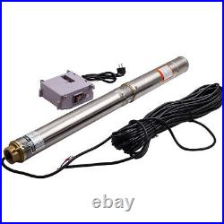 3800 l/h 3 Submersible Bore Hole Deep Well Pump 750W Stainless Steel 220V-240V