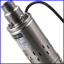 3 1020L/H 250W Deep Well Submersible Pump Electric Borehole + 15m cable