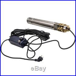 3 2400 L/h Submersible Water Deep Well Borehole Pump Stainless Steel