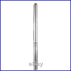 3 240V 95M 3.3 m³/h Stainless Steel Submersible Deep Well Electric Water Pump