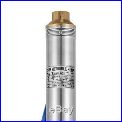 3 4 220v Borehole Pump Deep Well Water Submersible Electric Garden Pump
