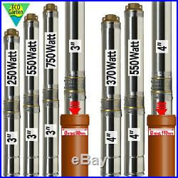 3 4 Borehole Pump Deep Well Water Submersible Electric Garden Pump