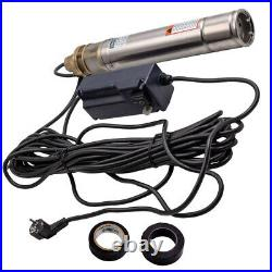 3 750W 2400L/H Deep Well Borehole Pump Submersible Water Pump 1HP