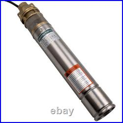 3 750W 2400L/H Deep Well Borehole Pump Submersible Water Pump Maximum Head 60m