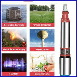 48V/60V 2M³/H Stainless Steel Submersible Deep Well Pump Water Pump Garden Farm