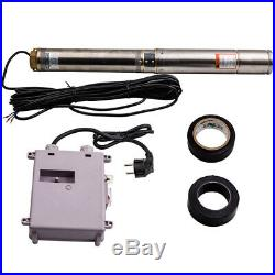 4 1100W Deep Well Submersible Pump Borehole Stainless Steel House/Garden Pump