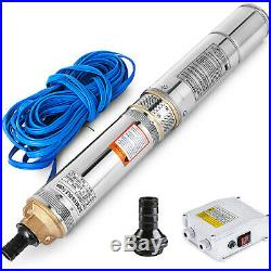 4 230V 74M 5.5m³/h Stainless Steel Submersible Deep Well Electric Water Pump