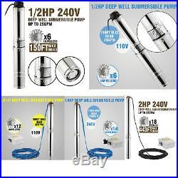 4 Borehole Pump Deep Well Pump Water Pump Submersible Pump Garden Pump Electric