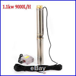 4 Deep Well Water Pump Submersible Pump 1.5HP 220V 50m Max Head Single Phase EU