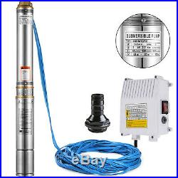 4 SUBMERSIBLE BOREHOLE DEEP WELL WATER PUMP 70m 230V 2.2kW LONG LIFE