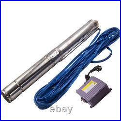 4 inch 1.1KW Borehole Deep Well Water Submersible Pump 50Hz 220-240V 20M Cable