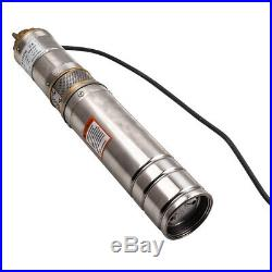 4 inch 2800L/H Long Live Deep Well Submersible Borehole Water Pump + 15m Cable