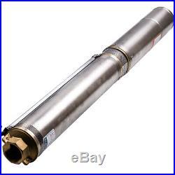9.7 bar 35°C 4inch 750 W Deep Well Submersible Water Pump 4 Screw Pump 6000 L/H