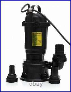Cesspool Sewage Dirty Water Deep Well Septic Sump Pump + Grinder 3100W 25000L/h