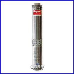 DAYTON 1LZT5 1-1/2 HP Deep Well Pump, 20 gpm, 230VAC