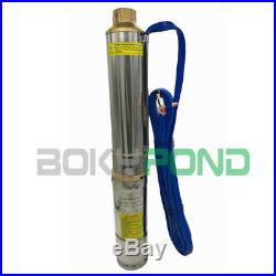 DC72V Solar Brushless Deep Well Submersible Pump 3 Inch Centrifugal Pump, 236.2FT