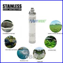 DC 24V Solar Screw Deep Well Submersible Pump 648W, Stainless Steel, 1099.85GPH