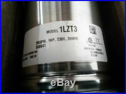 Dayton 1LZT3 1 HP 230VAC 221 Ft Max Head 10 Stage Submersible Deep Well Pump