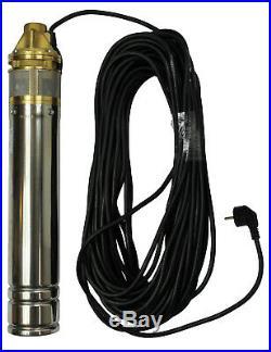 Deep-Well Pump 4 Inch Cs 4 SKM100, 15m Cable, 2700 L/H, Fh 60m, 0,75KW, 230V