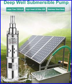 Deep Well Pump Borehole High Water Flow Garden Pool Submersible Complete Kit