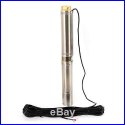Deep Well Sub Pump 1.5 HP 220V Stainless Steel 4 Submersible Pump 1100W 9000L/H