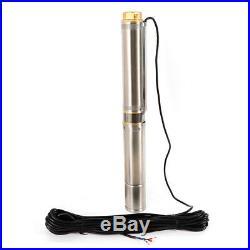 Electric Deep Well Water Pump Submersible Borehole Garden Ponds 1100W 9000L/H DE