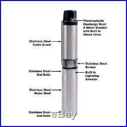 Everbilt 1 HP Submersible 2-Wire Motor 10 GPM Deep Well Potable Water Pump