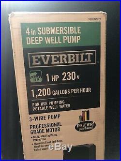 Everbilt 1 HP Submersible 3-Wire Motor 1200 GPH Deep Well Potable Water Pump