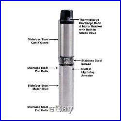 Everbilt 1 HP Submersible 3-Wire Motor 20-GPM Deep Well Potable Water Pump