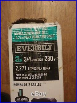 Everbilt 3/4 HP Submersible 2-Wire Motor 10 GPM Deep Well Potable Water Pump